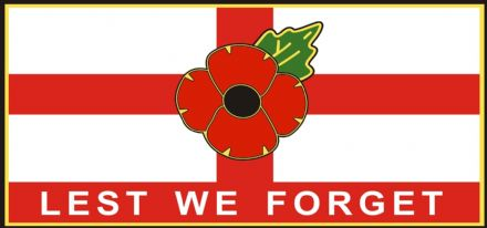 Poppy Car Window Sticker - St George Lest We Forget
